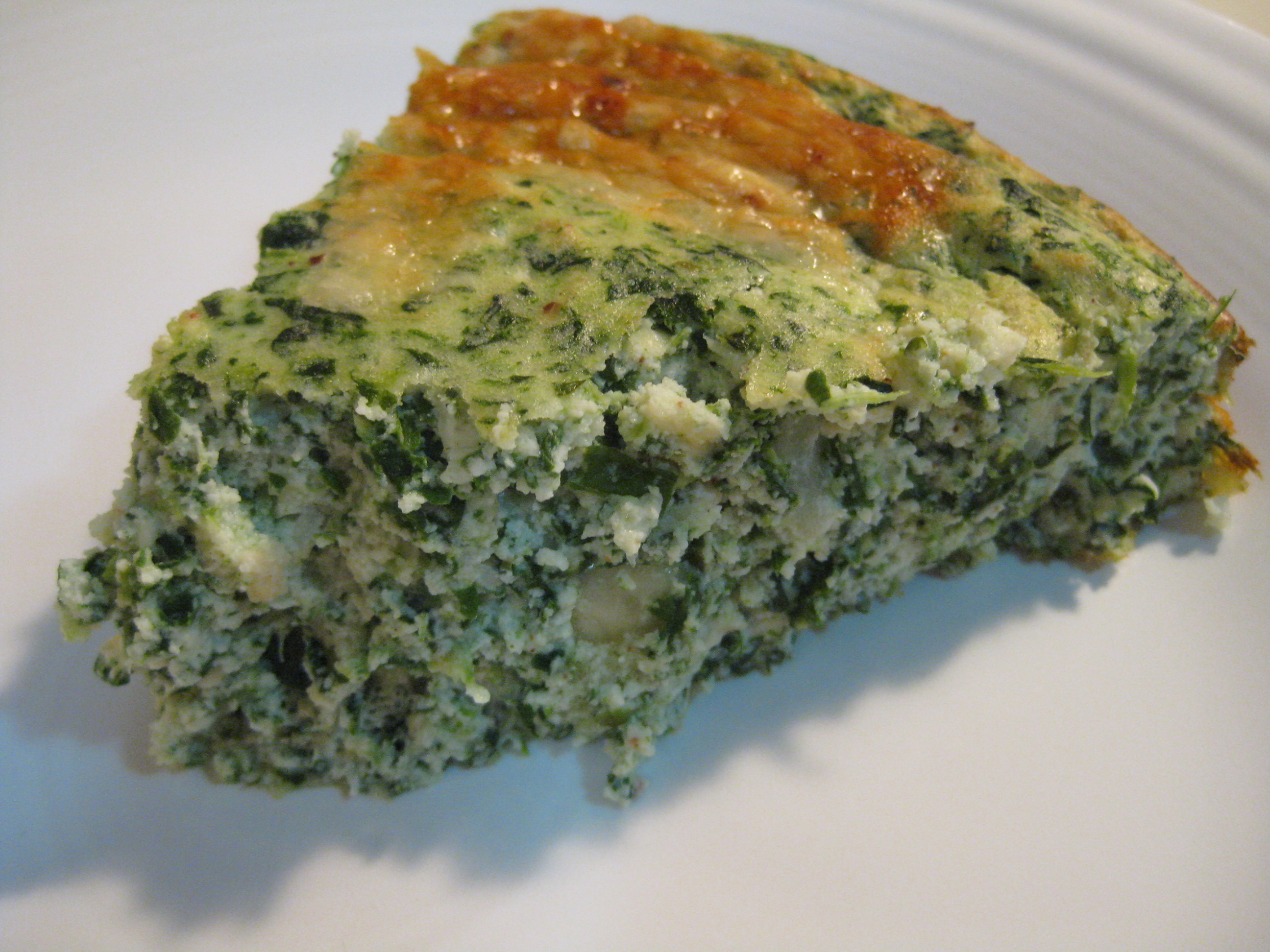 Quiche without crust why not relishments crustless spinach quiche adapted from food network forumfinder