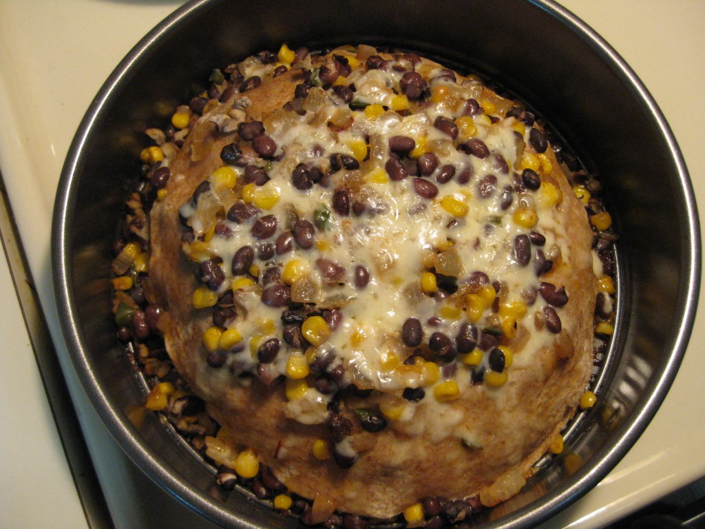Another Experiment: Tortilla and Bean Torte | Relishments