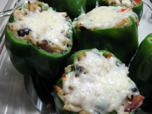 """Whatever's In The Pantry"" Stuffed Peppers"