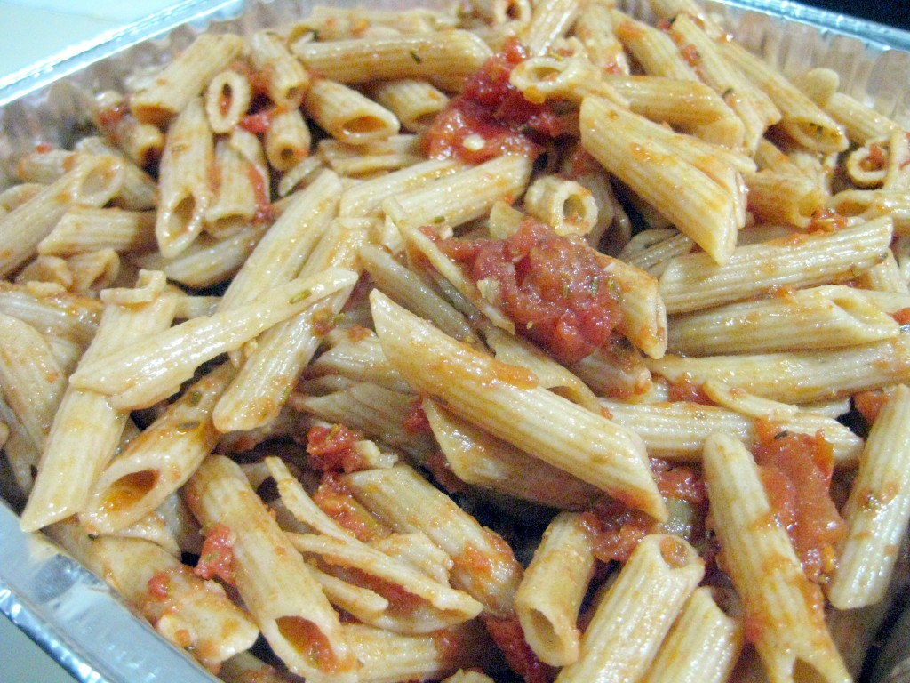Penne with Rosemary Tomato Sauce and Balsamic Vinegar
