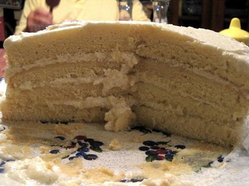 Lemon cake layers
