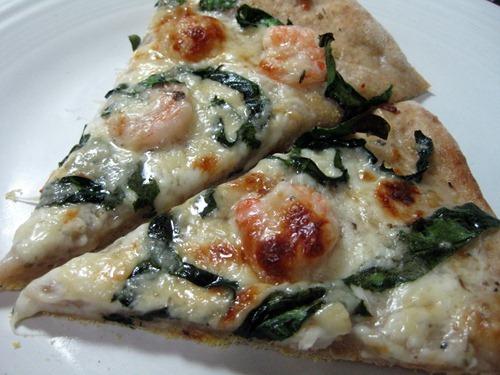 shrimp pizza slices