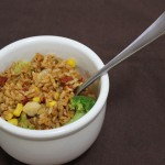 Make Lunch Ahead: Baked Chili Brown Rice and Vegetables