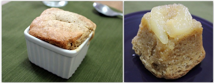 pear upside down cake collage
