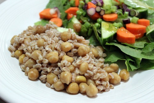 farro with chickpeas