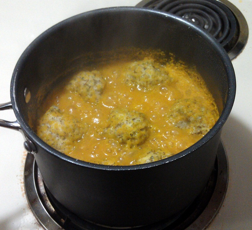 Storm Soup: Roasted Vegetable Soup with Herb Dumplings
