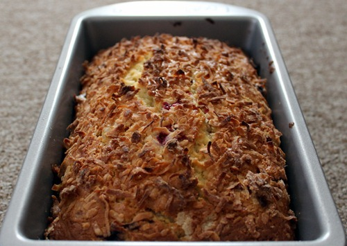 cranberry lime and coconut loaf 2