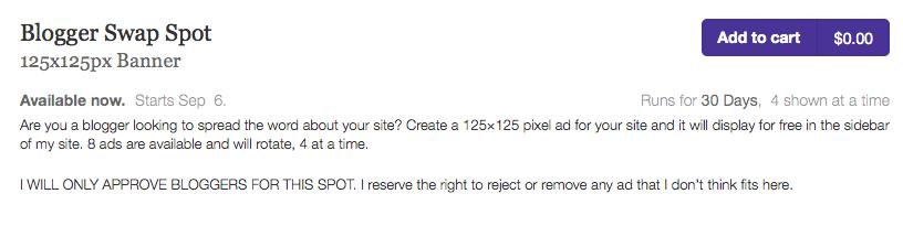 Blogger Spot screenshot