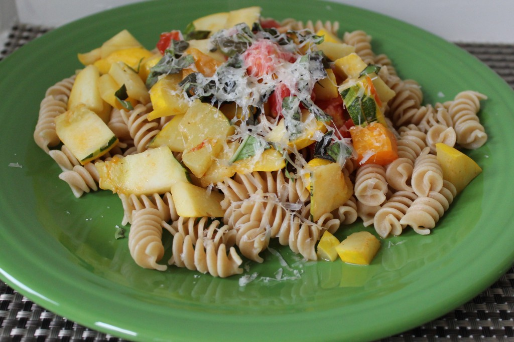 pasta with squash and tomatoes