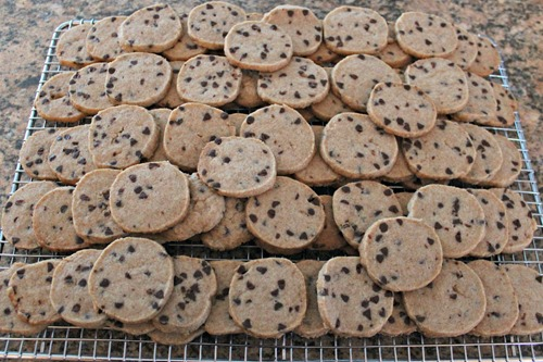 chocolate chip sables