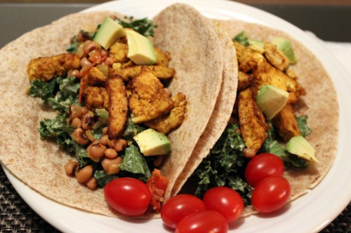 Recommended Recipe: Curry Tofu Tacos With Pintos & Kale Slaw