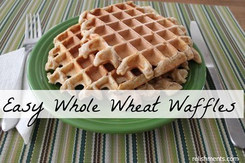 easy whole wheat waffles