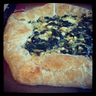 Dinner___Spinach_and_Feta_Crostata_from_The_Meat_Lover_s_Meatless_Cookbook