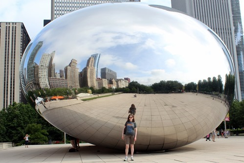 Emily at the bean