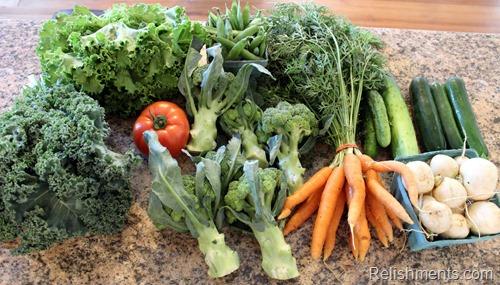 CSA vegetables 7.14.14