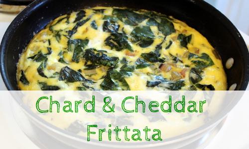 Chard Cheddar Frittata