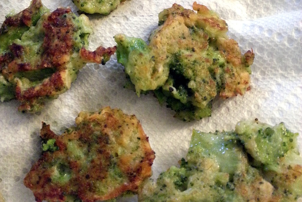 Broccoli parmesan fritters , from Smitten Kitchen. I think they would ...