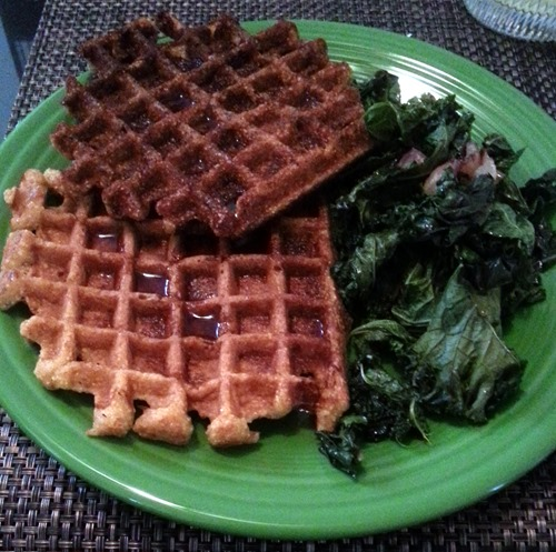 cornbread waffles and greens
