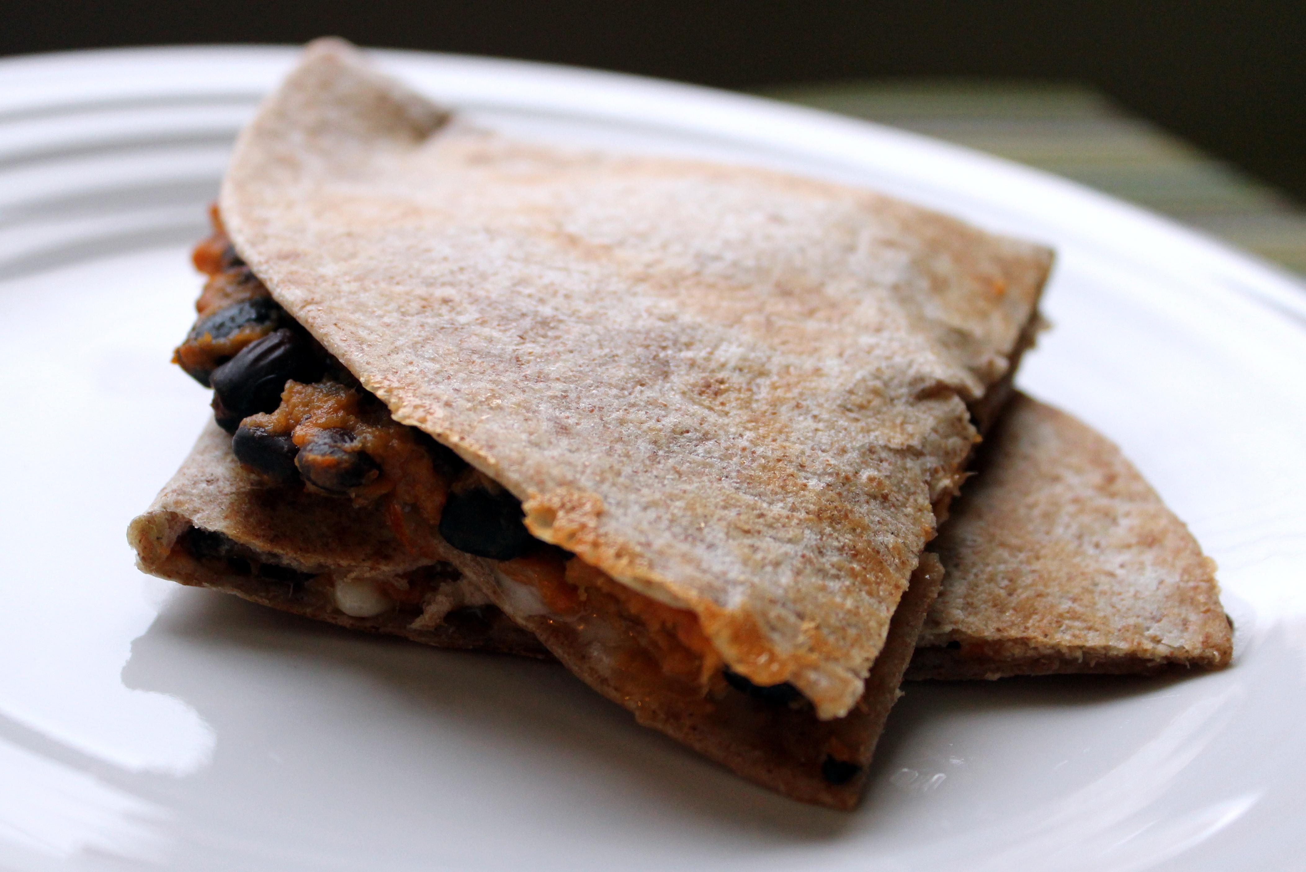 Black Bean Sweet Potato Quesadillas