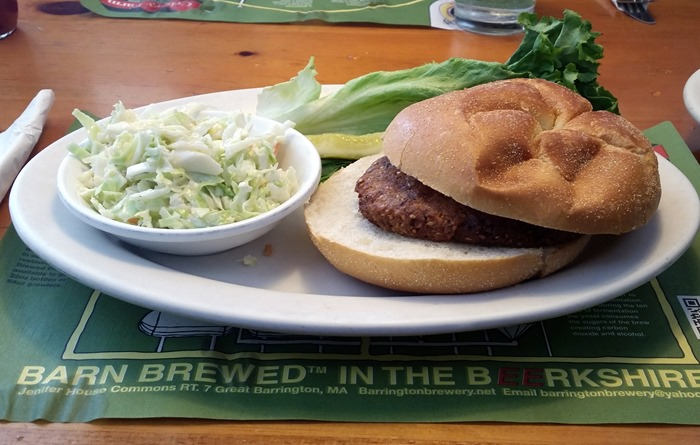Barrington Brewery veggie burger