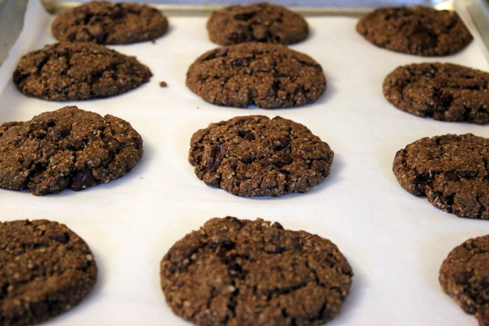 one bowl double chocolate chunk cookies from oh she glows