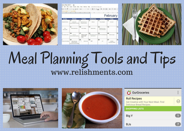Tools & Tips for Menu Planning