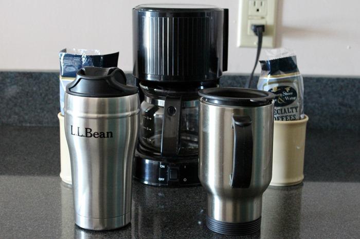 hotel coffee set up