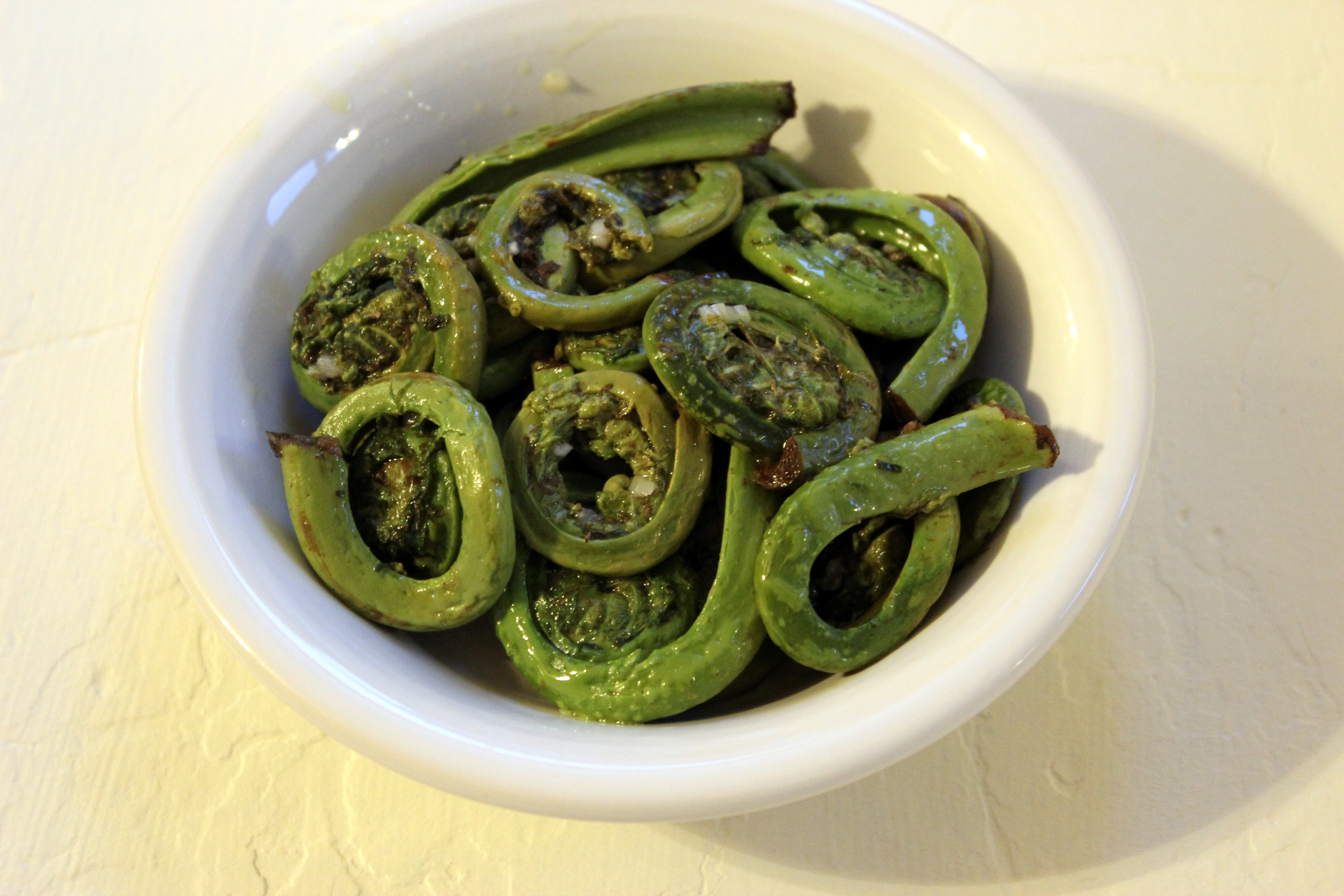 Simple Spring Fiddleheads