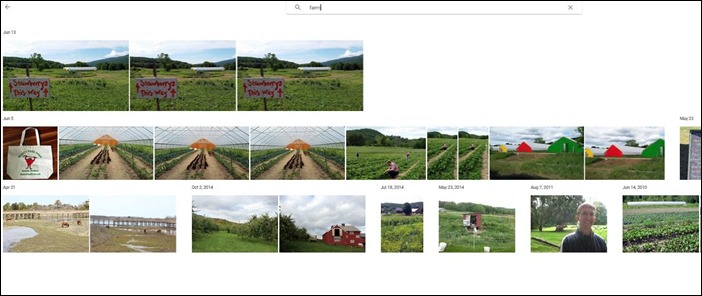 Google photos search farm
