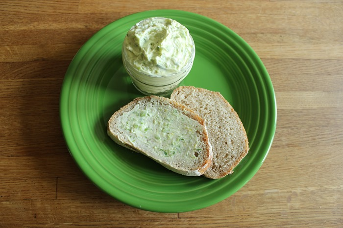 garlic scape butter and toast