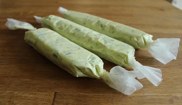 garlic scape butter to freeze