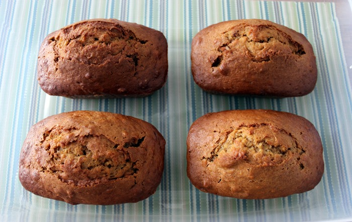 baked loaves of Sweet Potato Cinnamon Bread