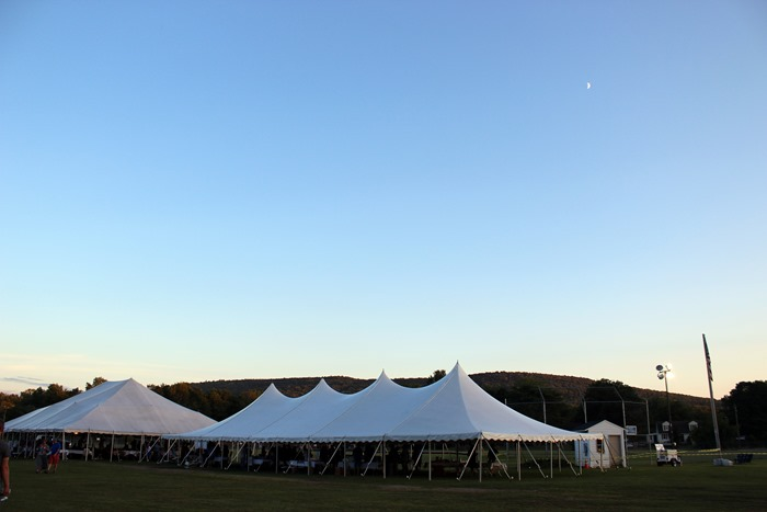 dusk at the food and wine festival 2