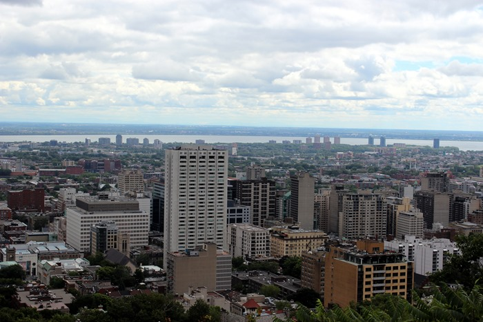 looking over Montreal from Mount Royal