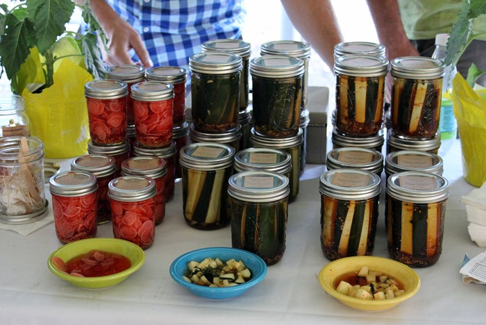 pickles at the food and wine festival