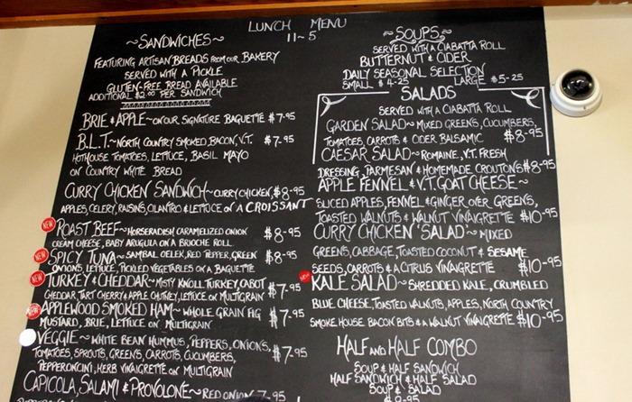 KAF menu