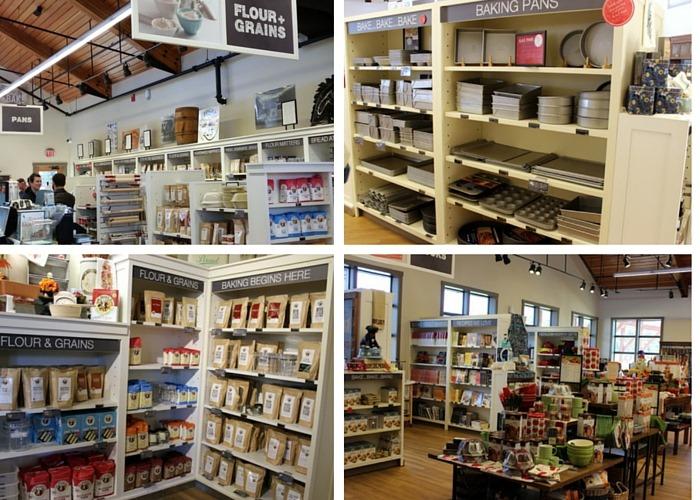inside King Arthur Flour bakers store
