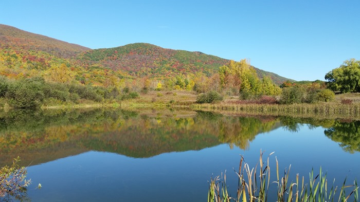 Berkshire mountain reflection 2