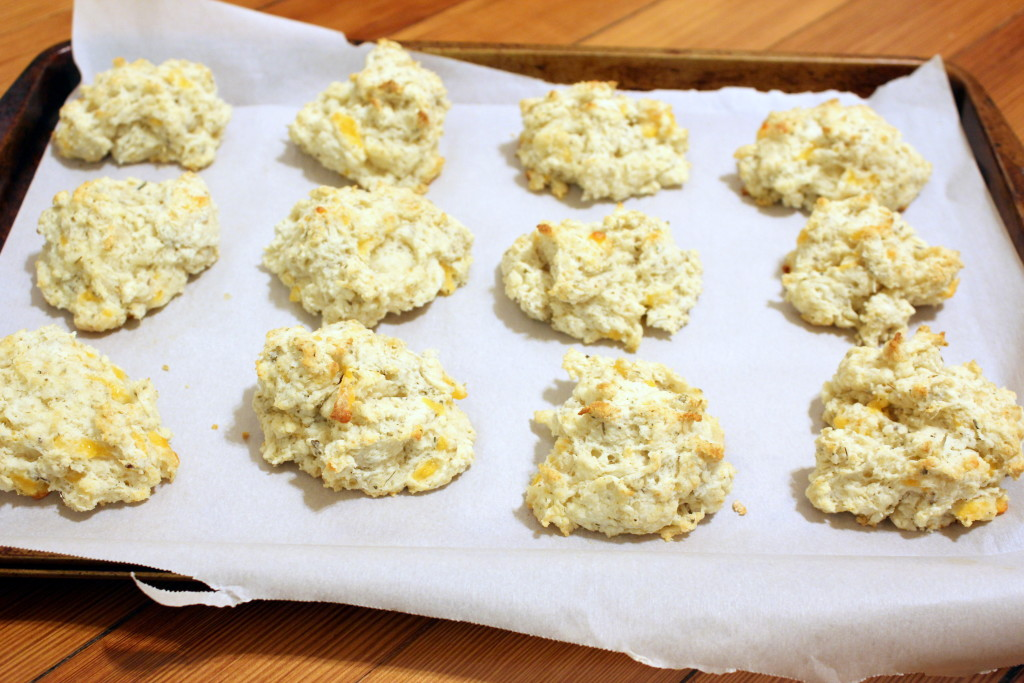 drop biscuits on parchment 2