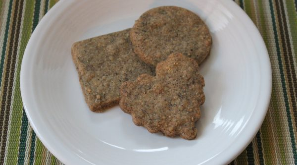 earl grey cookies on a plate