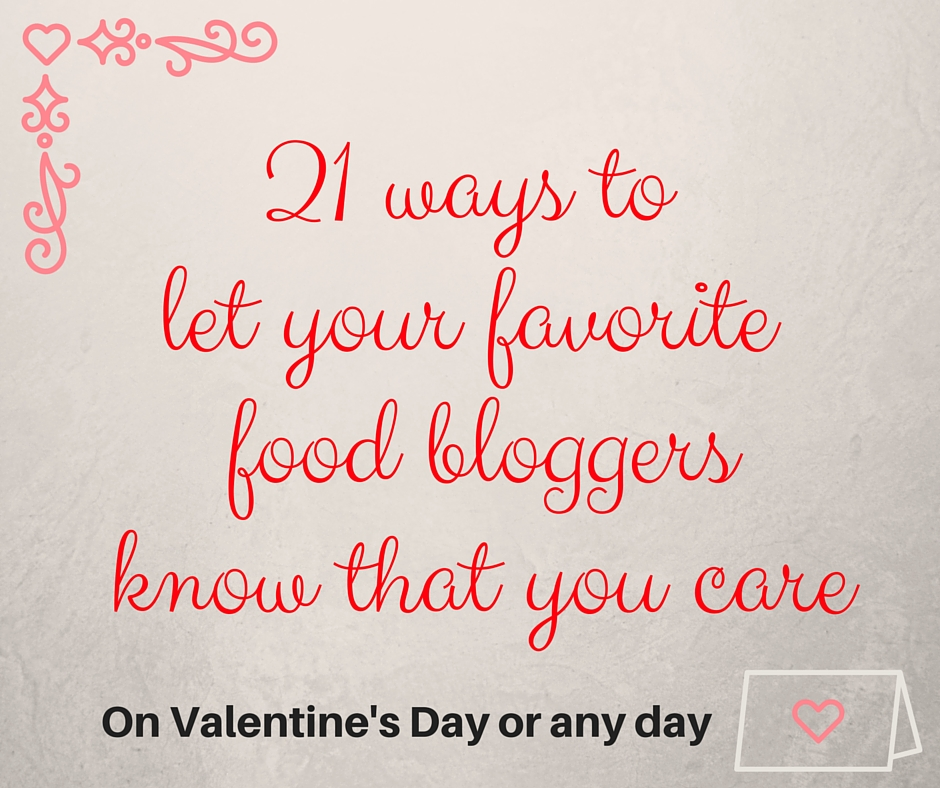 Food Blogger Valentines