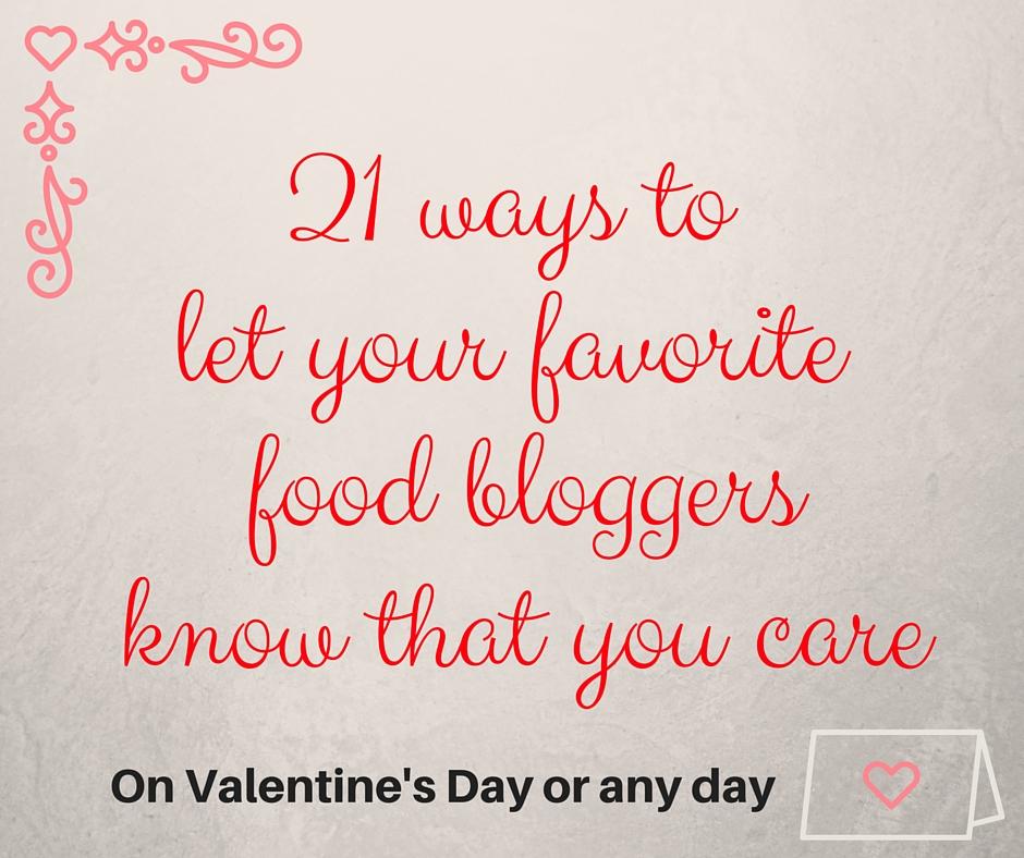Food Blogger Valentines
