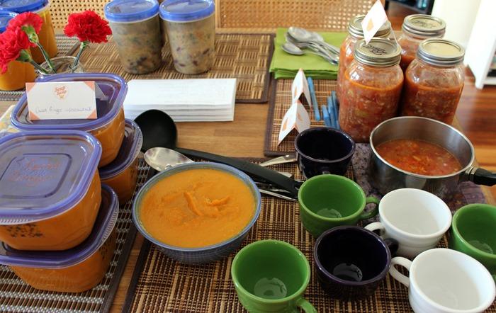 soup swap set up