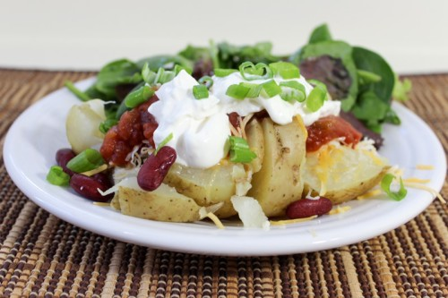 Vegetarian Loaded Baked Potatoes