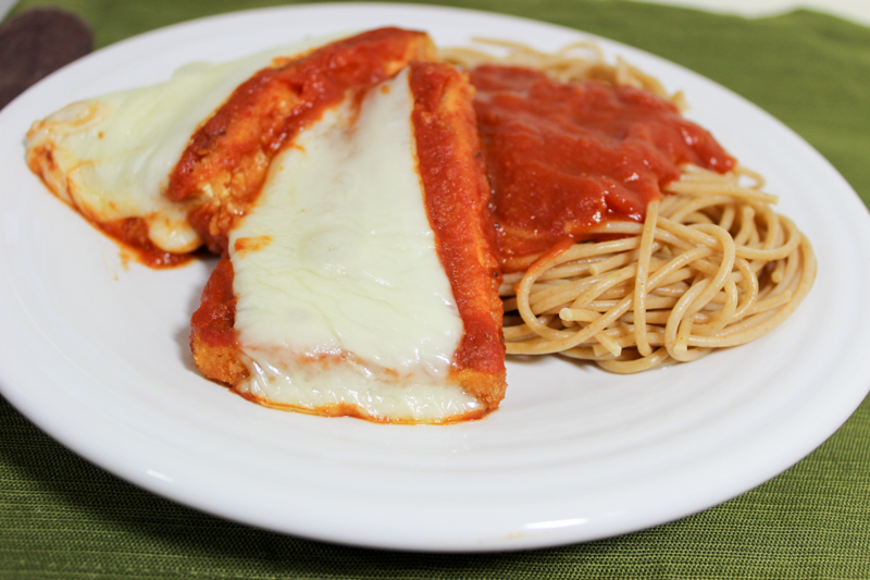 tofu parmesan serving
