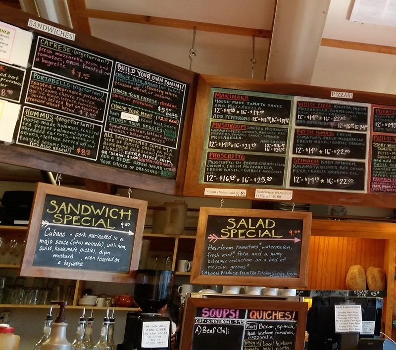 Bread Euphoria menu signs