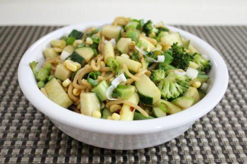 Farmers' Market Cold Noodle Salad – with Instant Noodles