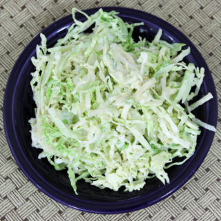kohlrabi and cabbage slaw