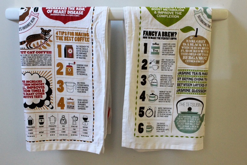 Uncommon Goods towels hanging