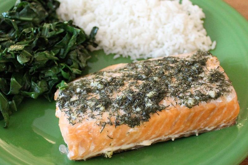 dill and garlic salmon 1